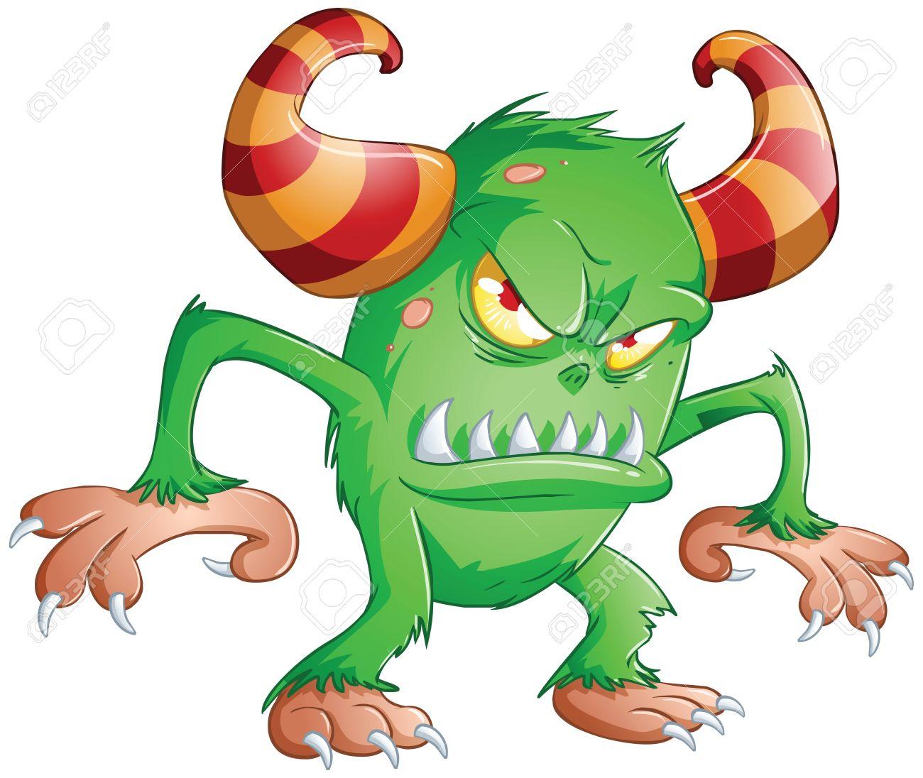 Alien clipart spooky. Scary monster cartoon free