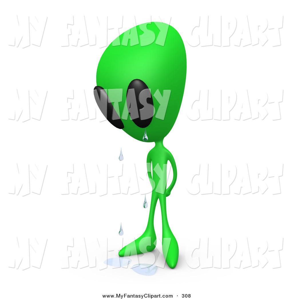 Clip art of a. Alien clipart standing