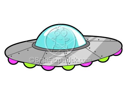 Cartoon clip art graphics. Alien clipart ufo