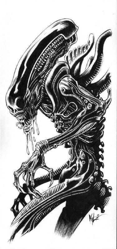 Alien clipart xenomorph. Artwork on library aliens