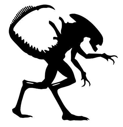 Alien clipart xenomorph. Amazon com sticker decal