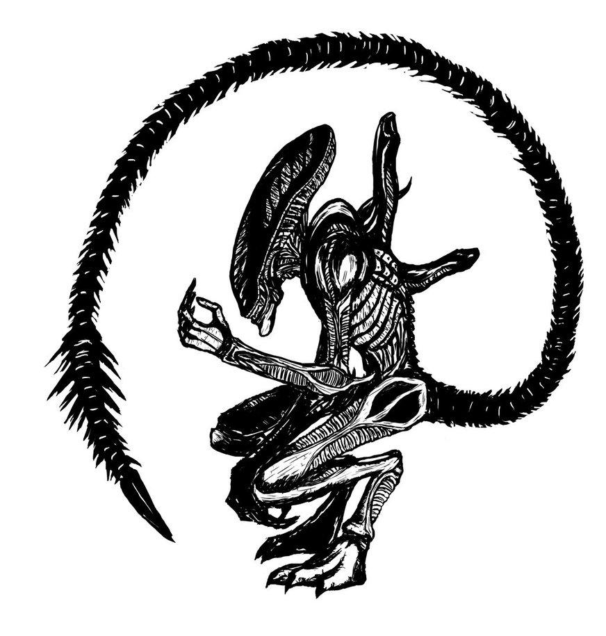 Alien clipart xenomorph. By silverleon on deviantart
