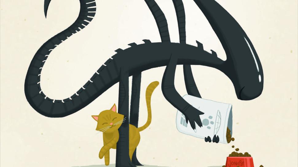 Exclusive next door illustrations. Alien clipart xenomorph