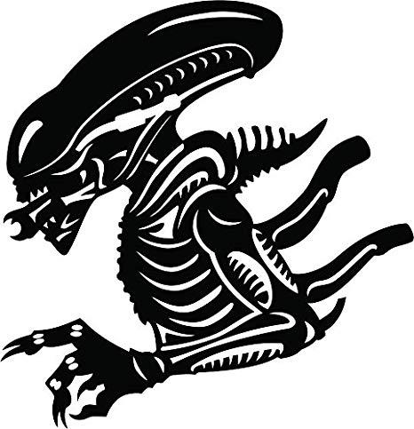 Aliens vinyl die cut. Alien clipart xenomorph