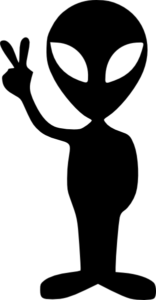 Black clip art at. Alien clipart