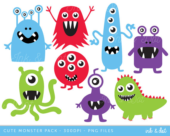 Aliens clipart. Monsters clip art boys