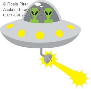 Spaceship clipart beam. Clip art illustration of