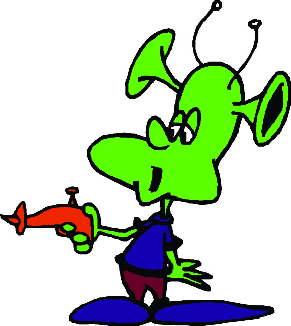 Cartoon page library clip. Aliens clipart alient