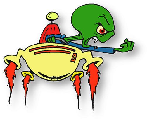 alien clipart sci fi