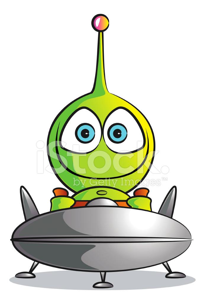 Aliens clipart baby. Alien in a spaceship