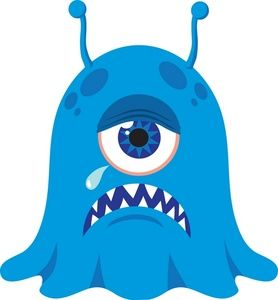 Blue clipart alien. Monster image creepy cyclops