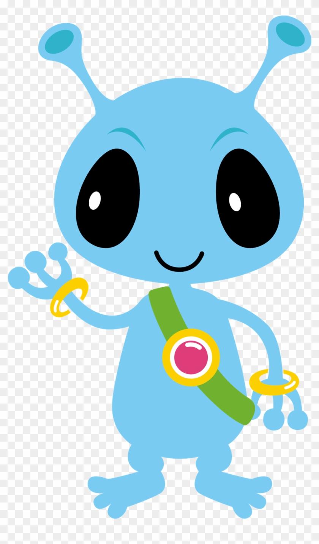 Spaceship clipart pretty. Monster cute alien blue
