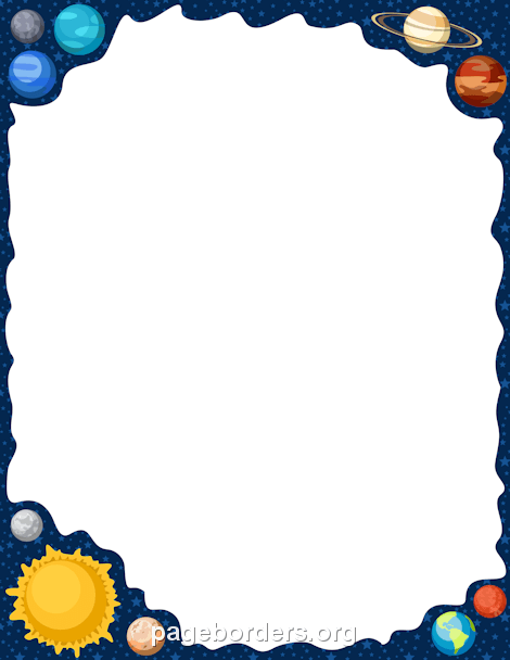 Planet clipart border.  awesome free outer