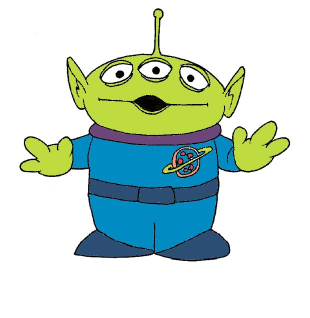 Alien clipart drawing.  best toy story