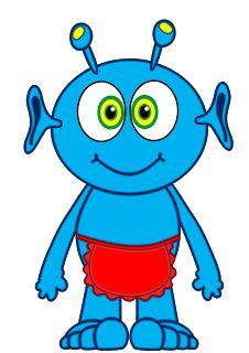 Blue clipart alien. Pictures for kids activity