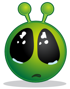 Alien clipart eye. Smiley green big eyes