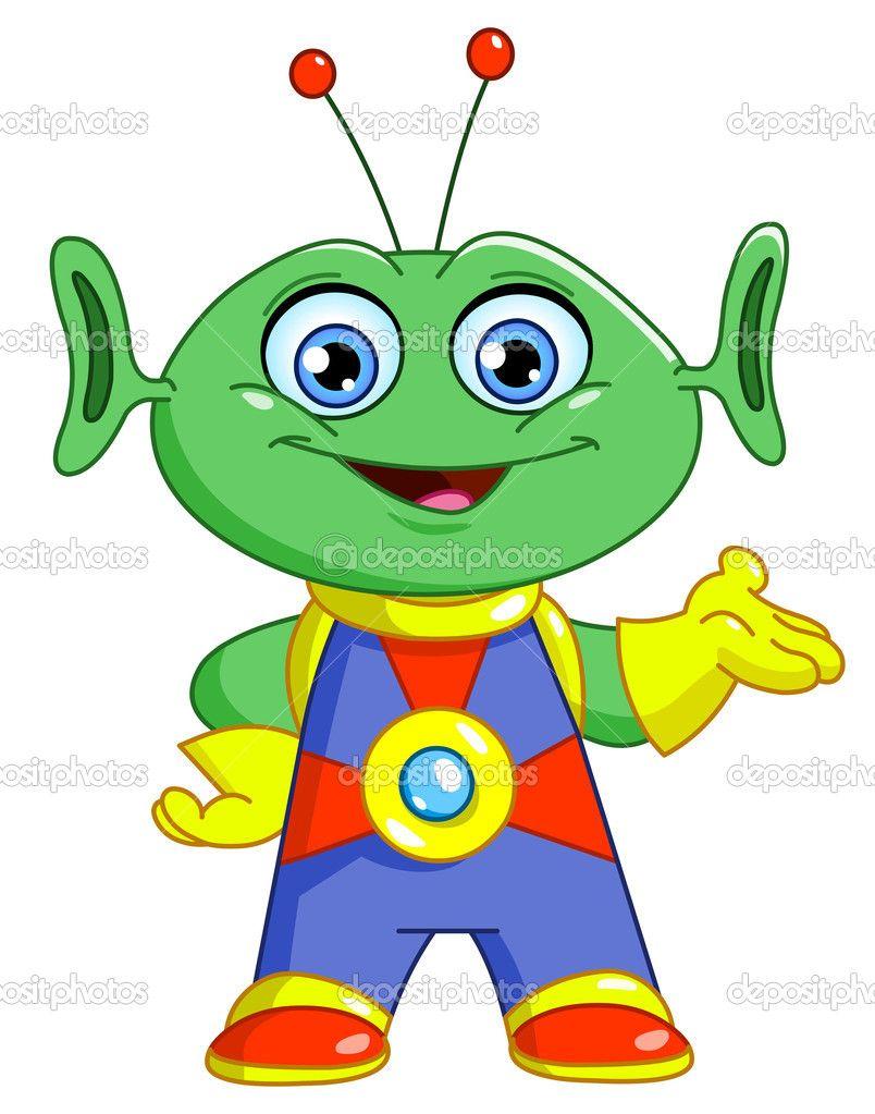 Alien stock vector yael. Aliens clipart friendly