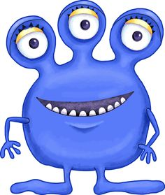 Free cute monster clip. Blue clipart monsters