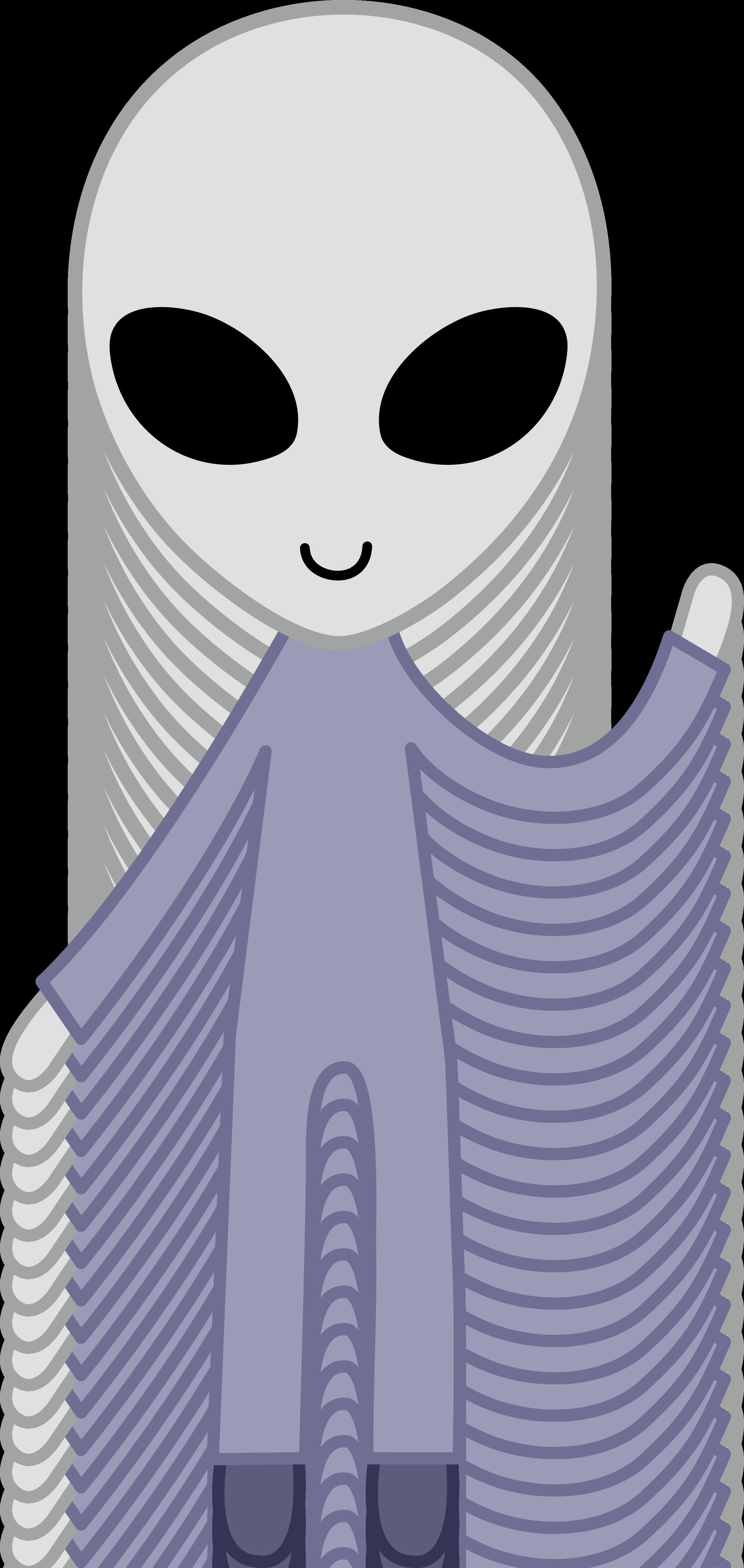 Clipart smile border. Friendly grey space alien