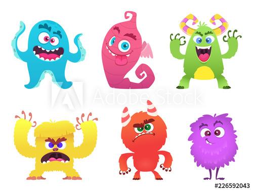 Cartoon monsters gremlin troll. Aliens clipart goblin