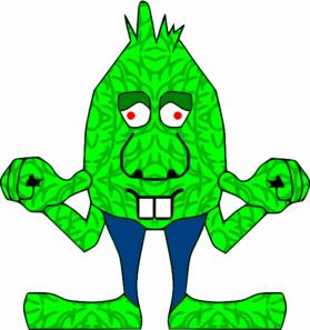 Green clip art at. Aliens clipart goblin