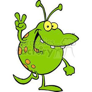 Alien clipart happy. Royalty free green gesturing