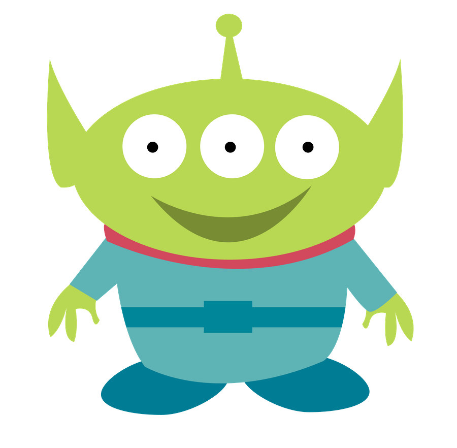 Toy story kids clip. Clipart halloween alien
