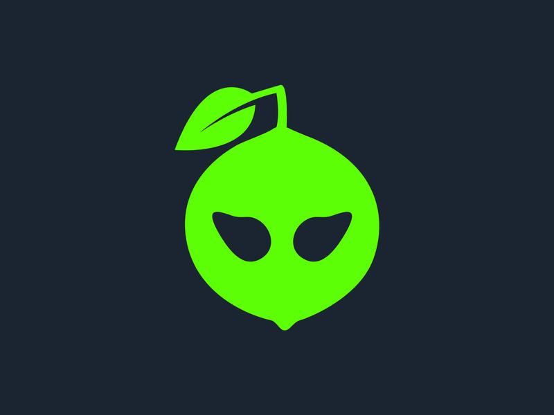 Aliens clipart lime green. Alien logo by finalidea