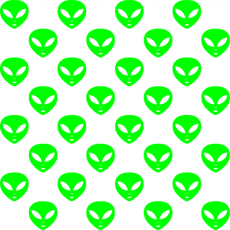 Aliens clipart lime green. One inch on white