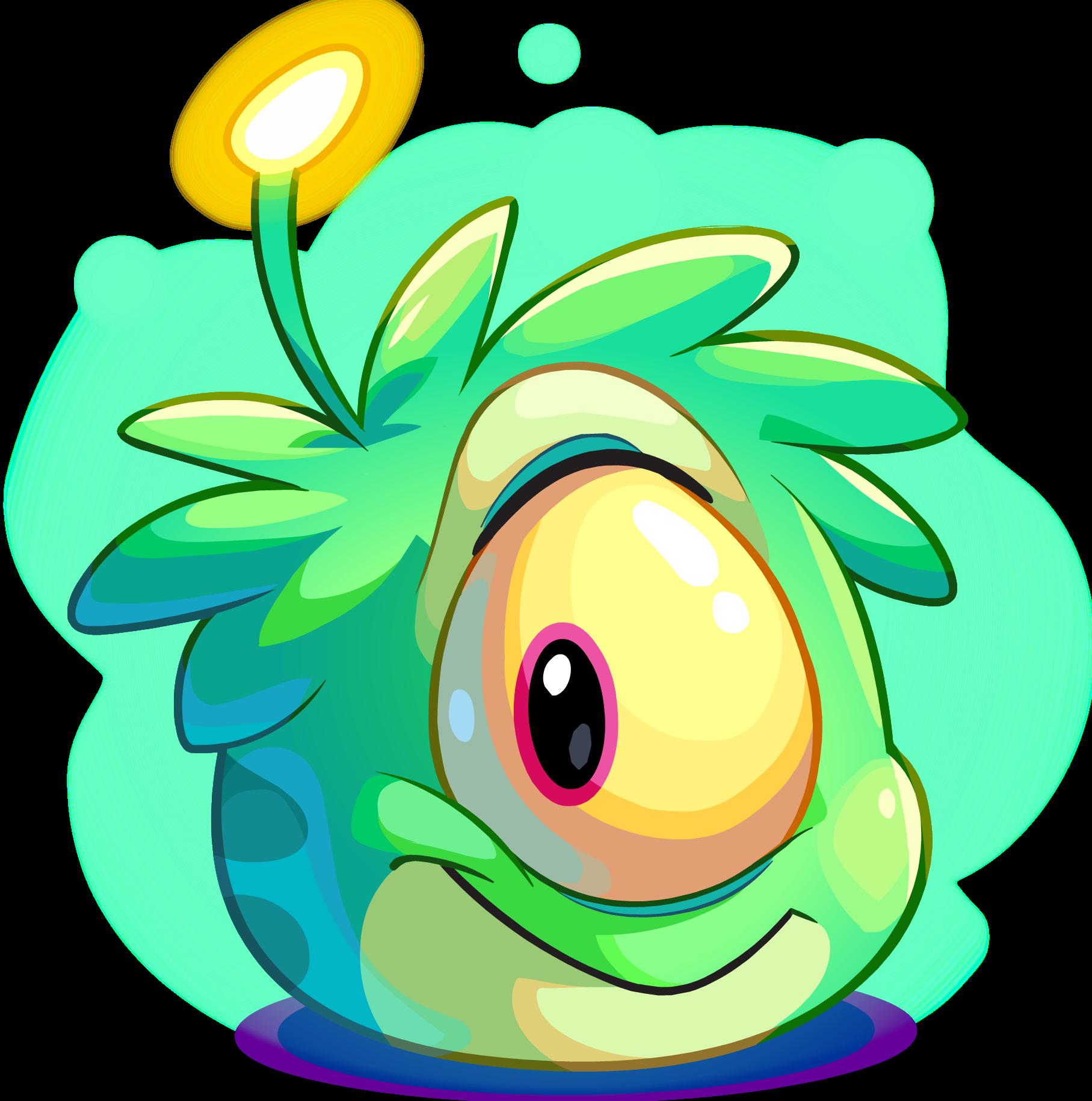 Aliens clipart lime green. Alien puffle club penguin