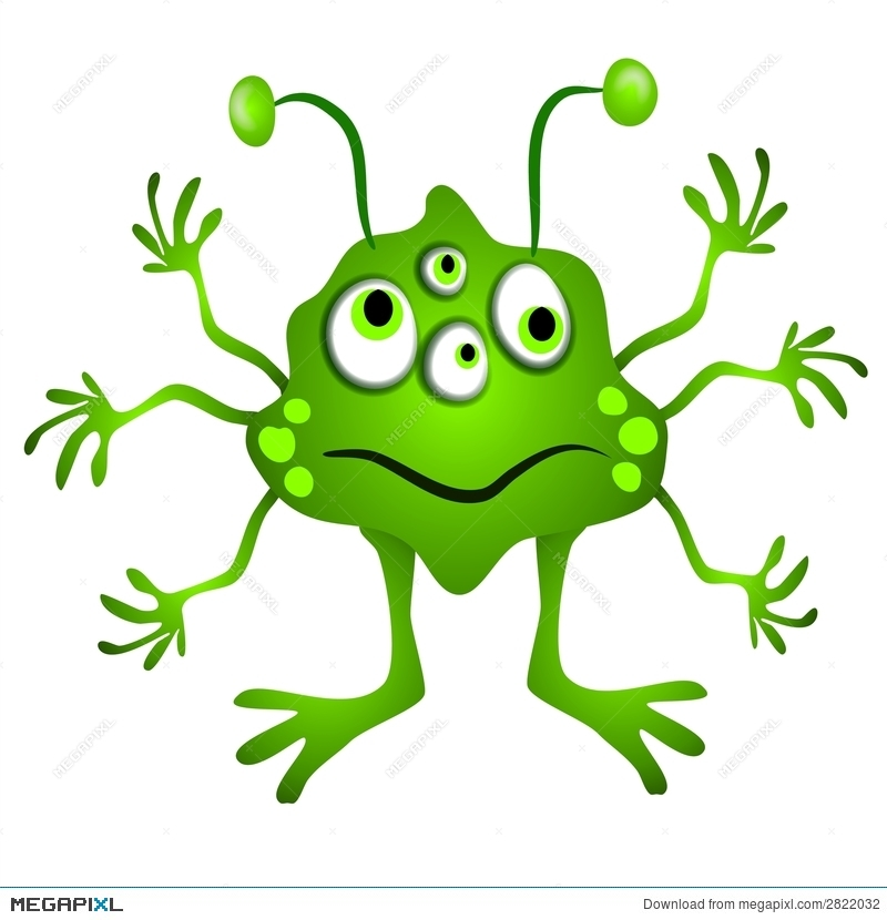 Aliens clipart lime green. Cartoon alien illustration megapixl