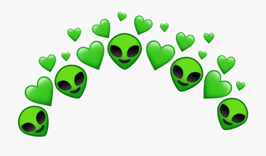 Alien heart tumblr . Aliens clipart lime green
