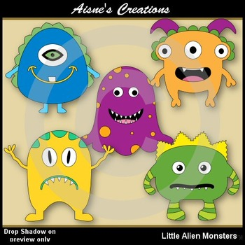 Alien monsters . Aliens clipart little