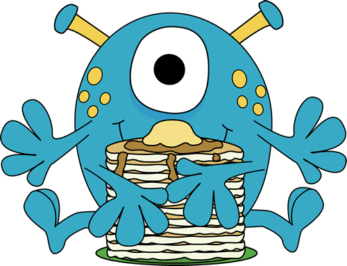 Aliens clipart monster. Clip art images eating