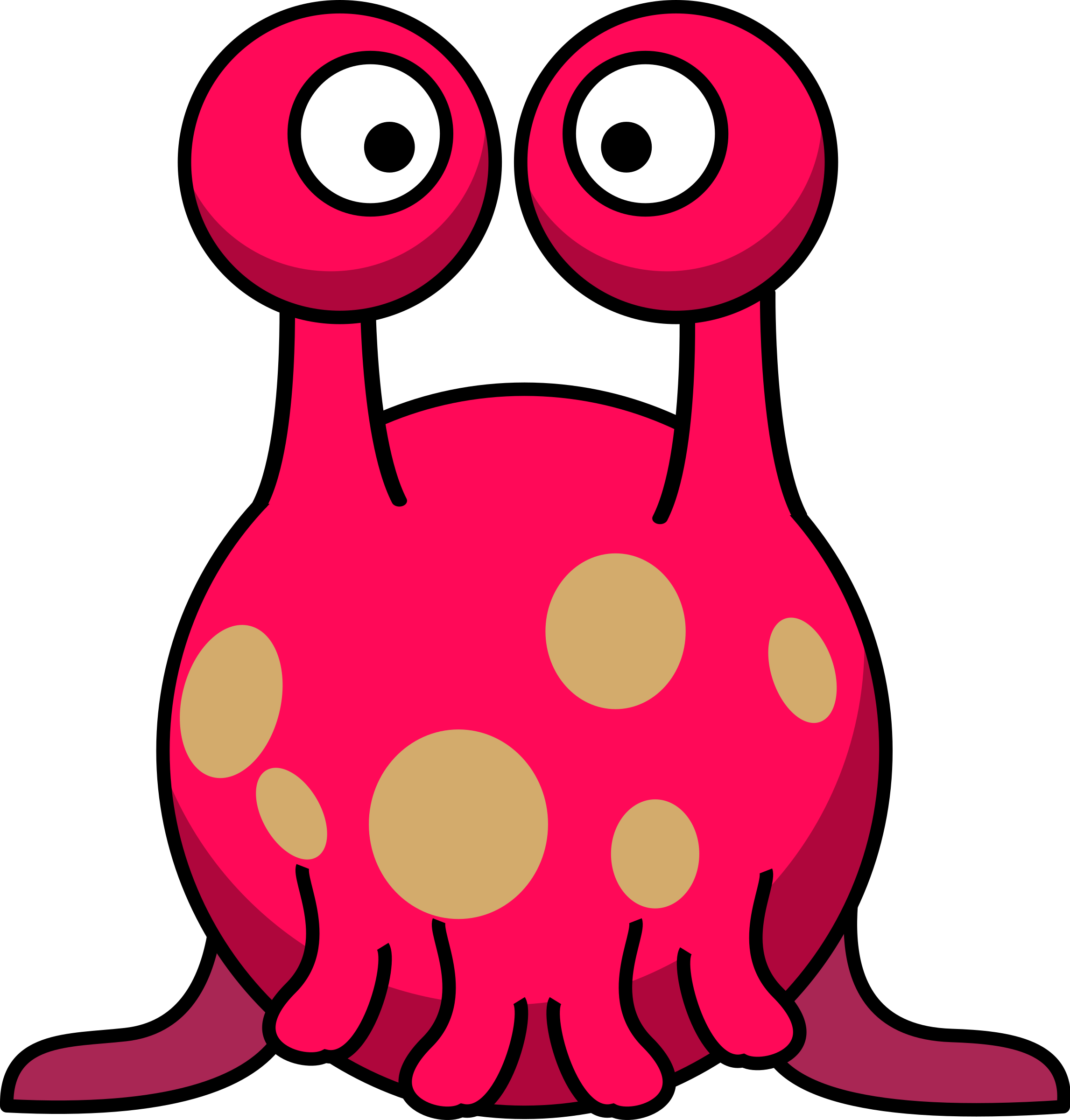 Silly alien in the. Jellyfish clipart vector