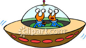 With two aliens royalty. Alien clipart alien spaceship