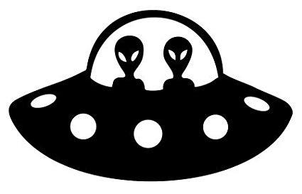 Ufo clipart alein. Alien spaceship vinyl decal