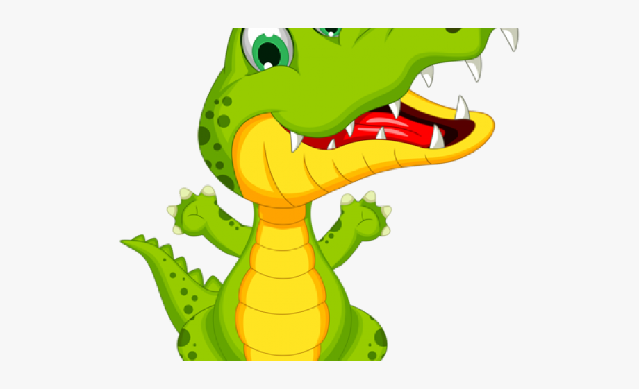 Cartoon ageless living home. Alligator clipart