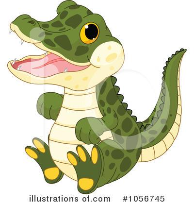 Illustration by pushkin . Alligator clipart adorable