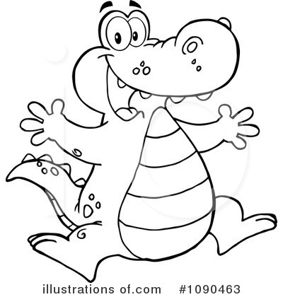 Illustration by hit toon. Alligator clipart adorable