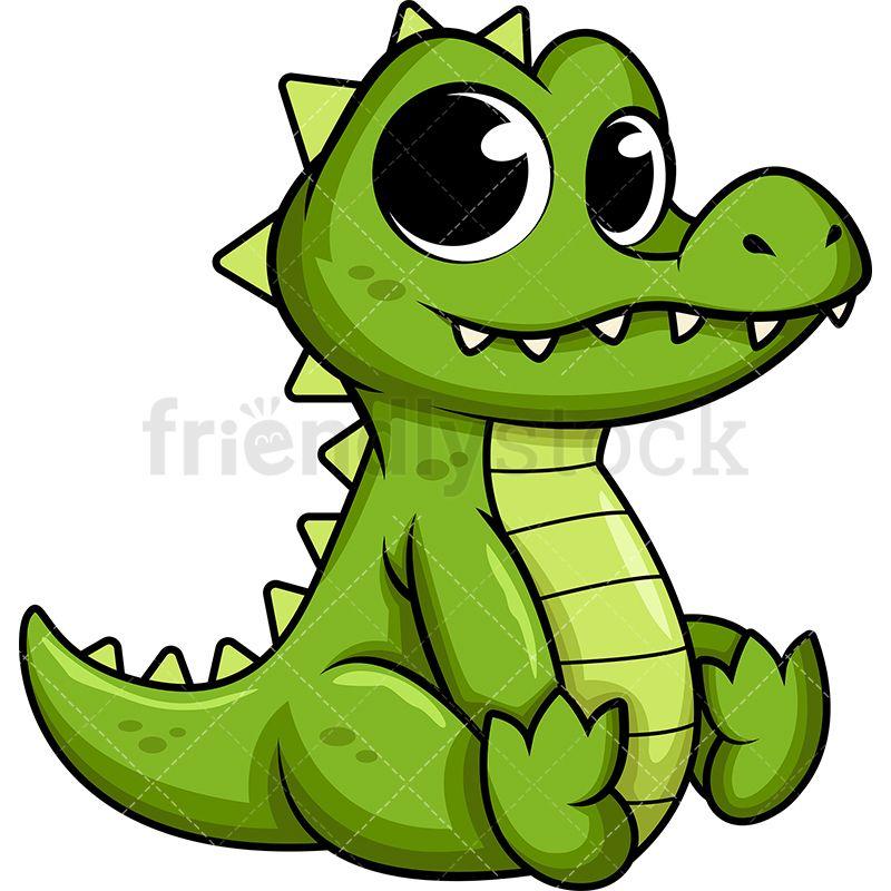 Alligator clipart adorable. Cute baby noah alphabet