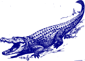 Blue . Alligator clipart american alligator