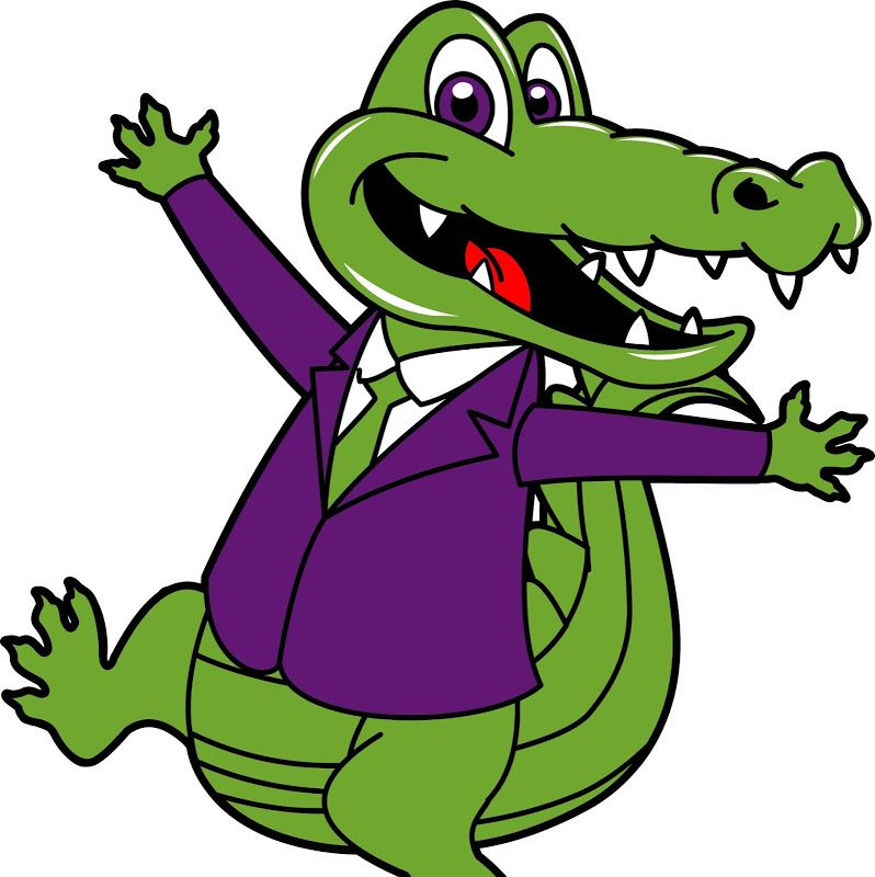 Alligator clipart animated. A cartoon crocodile pic