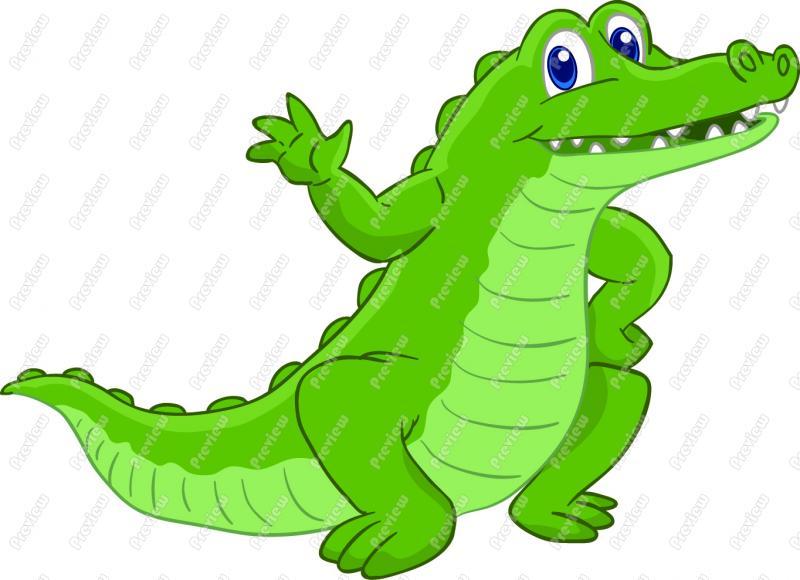 . Alligator clipart animated