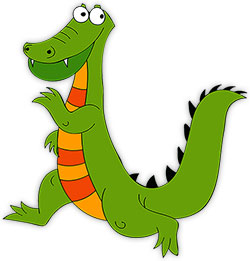 Free gifs alligators cartoon. Alligator clipart animated