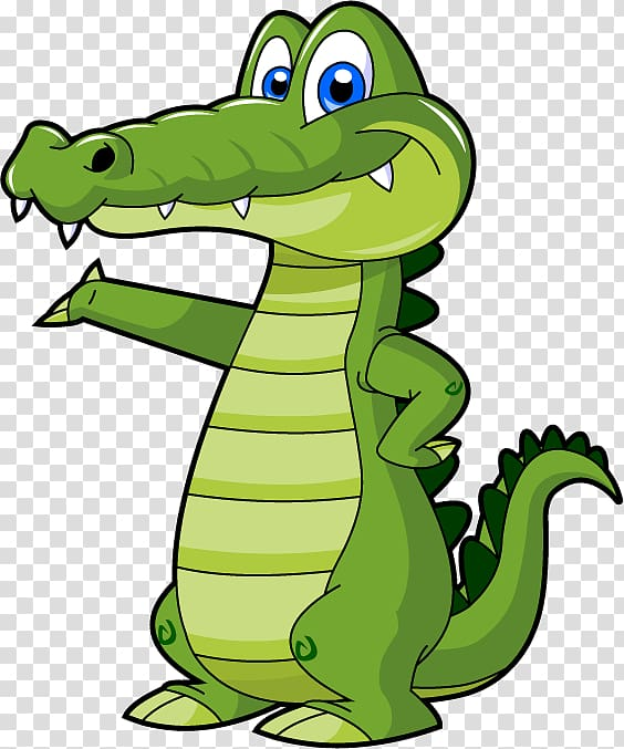Alligator clipart caiman. Crocodile cartoon transparent