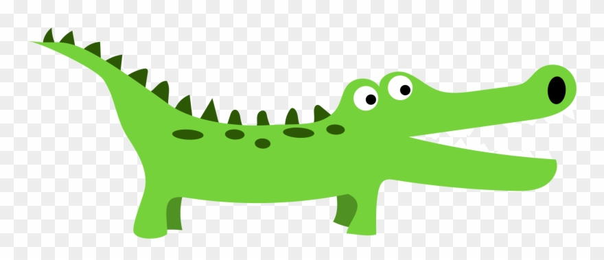 Alligator clipart easy. Strong image preschool png
