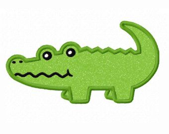 Simple pencil and in. Alligator clipart easy