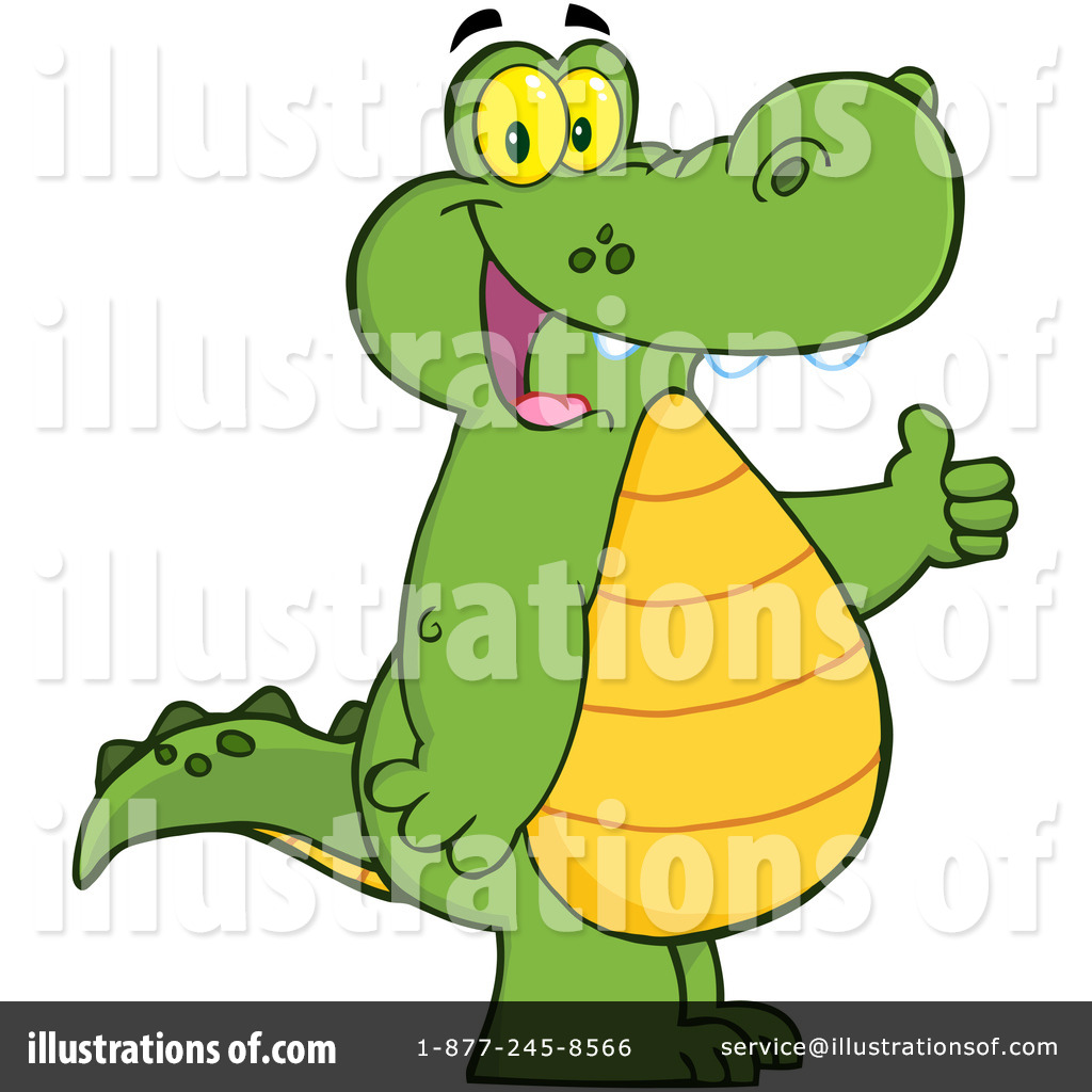 Illustration by hit toon. Alligator clipart kid