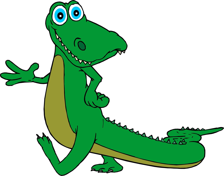 Funny clip art crocodile. Alligator clipart kid